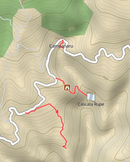 Mappa Cascata della Rupe